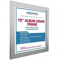 VINYLS- CADRE : Silver - Album Cover Frame Silver Wood