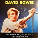 BOWIE David : LP Live At NHK Hall, Tokyo, Japan 12th December 1978