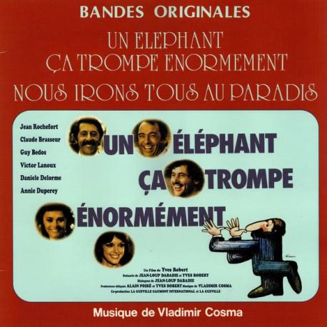 COSMA Vladimir : LP Un Éléphant Ça Trompe Énormément / Nous Irons Tous Au Paradis