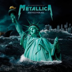 METALLICA : LP Justice For All (blue)