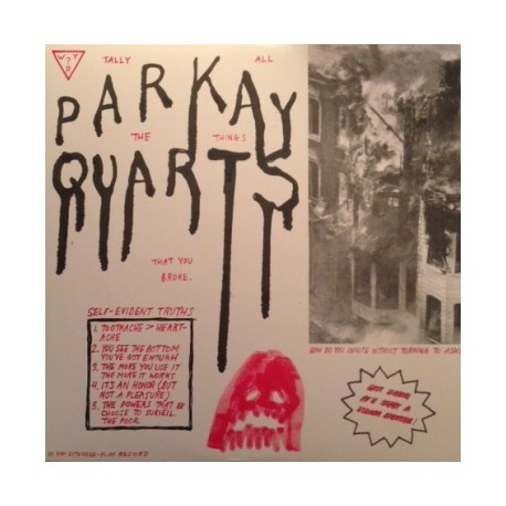 """PARKAY QUARTS : 12""""EP Tally All The Things That You Broke"""